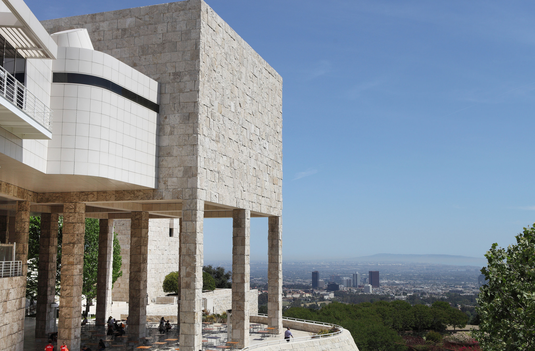The Restaurant at the Getty Center is one of 5 Restaurants with Breathtaking Views in Los Angeles