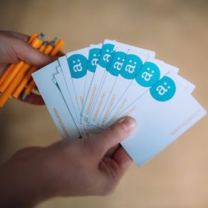 cards for game during corporate team building food tours