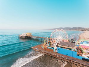 los angeles famous places to visit walking along the santa monica pier