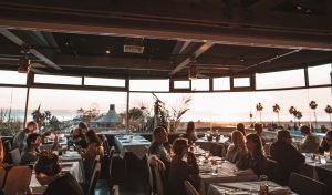 dining room at the lobster romantic restaurants in los angeles
