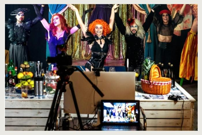 drag queen performance during unique virtual event