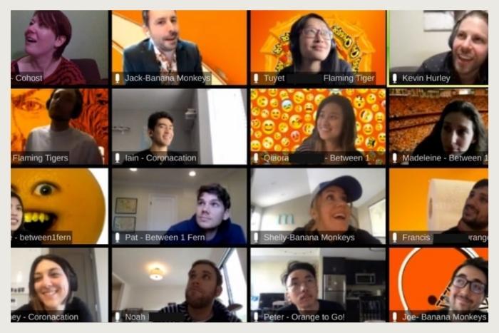team in zoom during unique virtual event