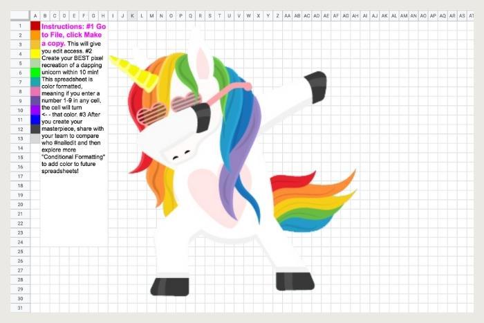 paint a unicorn during unique virtual events