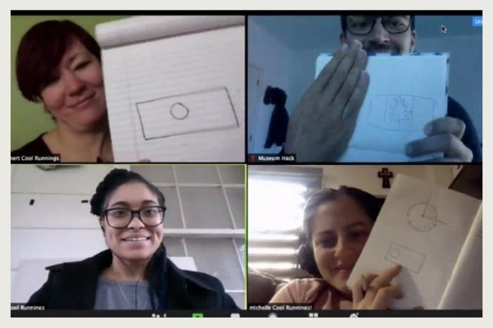 zoom group during storytelling workshop virtual event