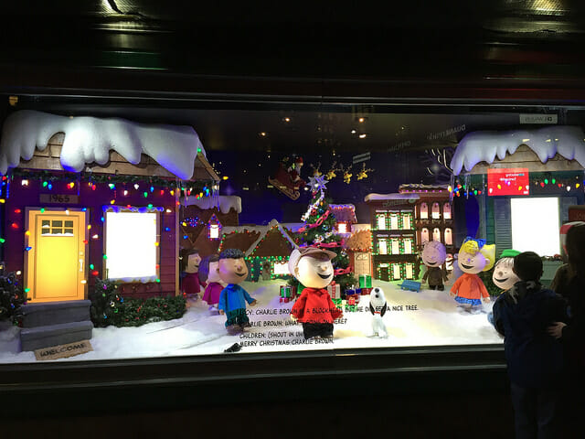 head to the holiday windows for Cute Date Ideas for Wintertime in New York