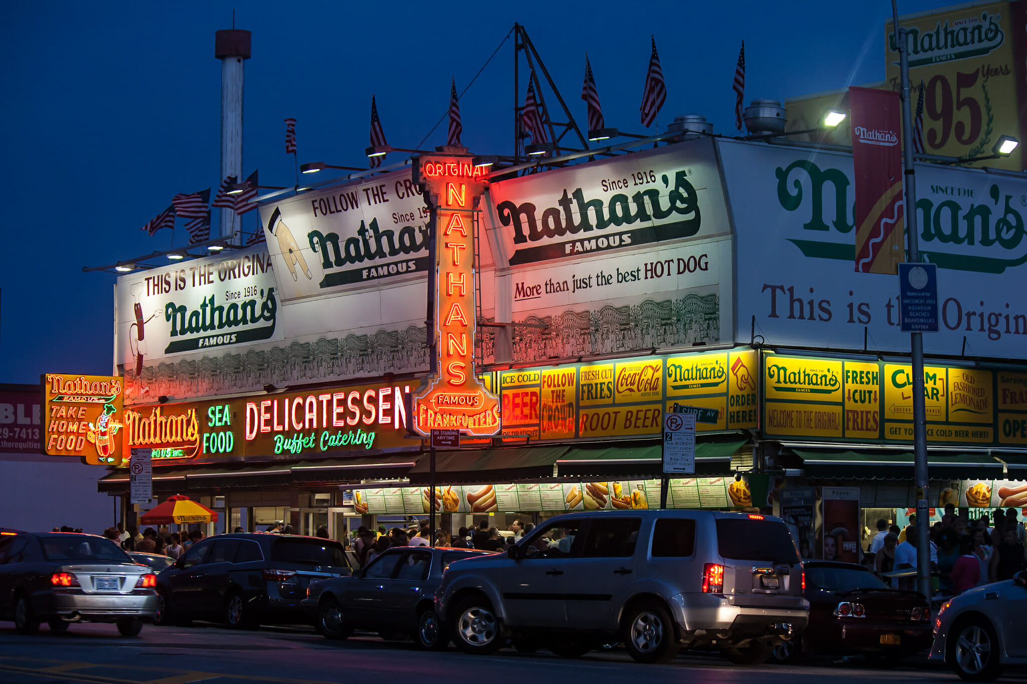 Head to Coney Island and go to Nathan's 5 Ways To Embrace Your Inner-Tourist in NYC