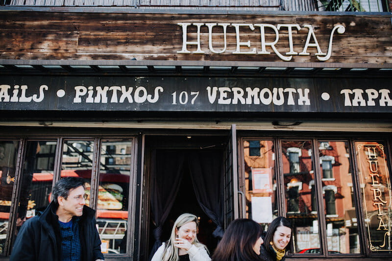Head to Huerta for one of 5 Group-Friendly Restaurants in NYC