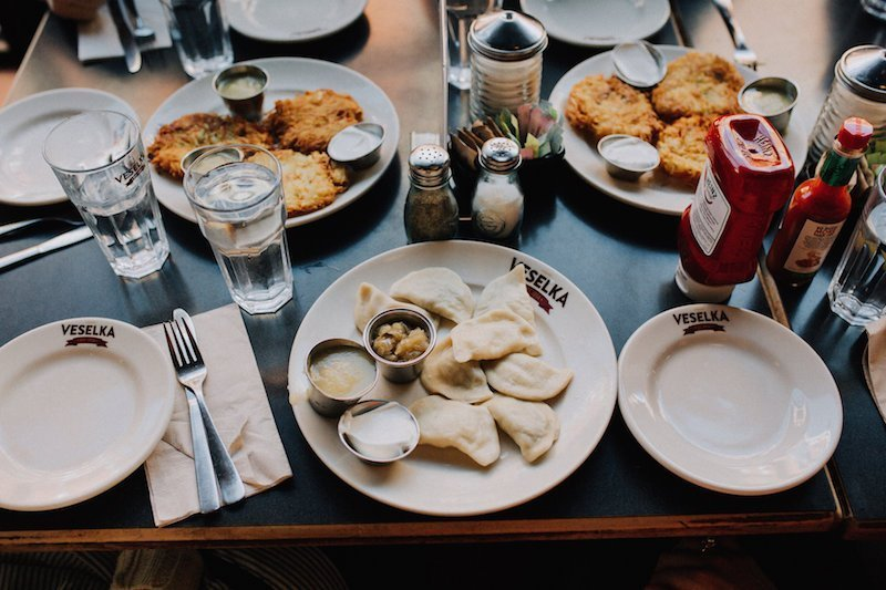 5 Best Lunch Counters in East Village-stop at pierogies at Veselka