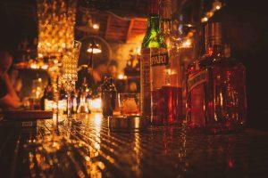 warm bar scene in warm and cozy restaurants