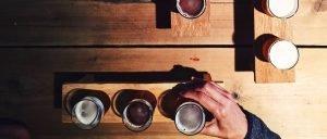 man doing beer tasting for virtual team building