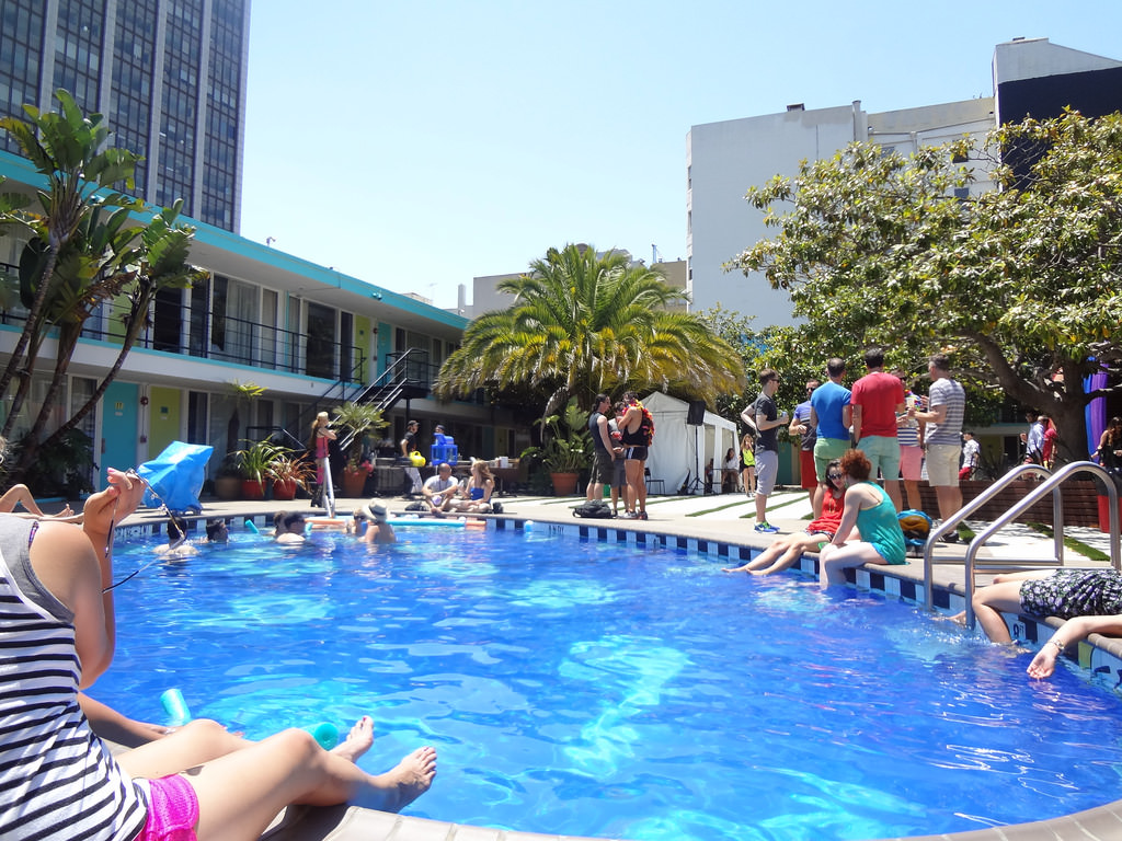 Hotel Pool Party Ideas make a splash with these tips for food decor and entertainment 40th Birthday Party At The Pheonix Hotel In San Francisco