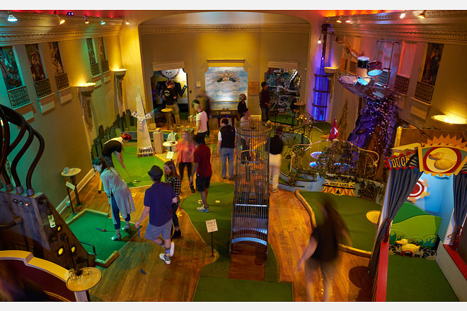 Indoor Mini Golf Course At Urban Putt In San Francisco