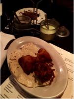 fried indian food at aslam's rasoi