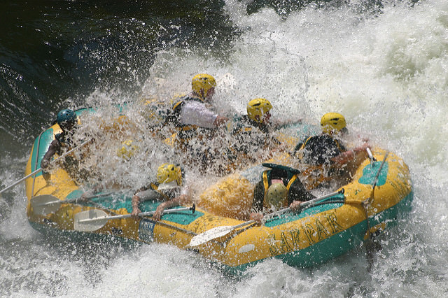 Rafting is one of Fun Executive Team Building Activities