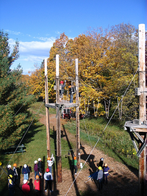 Fun Executive Team Building Activities ropes course