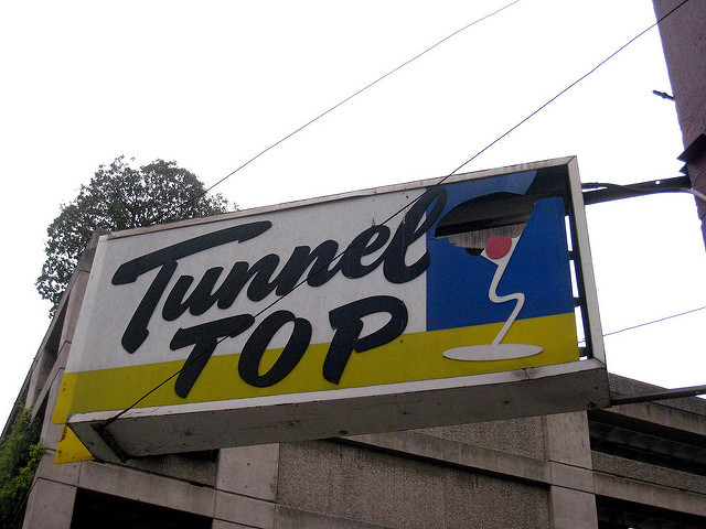 Grab a drink at Tunnel Top, one of The Best Happy Hours in Union Square