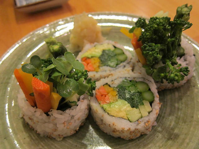 Vegan sushi from Cha-Ya on our San Francisco Vegan Restaurant Guide