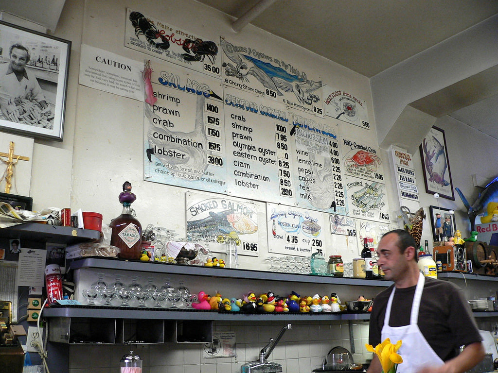 eating at swan oyster depot is on our list of 10 Things Everyone Should Do In SF Before They Die