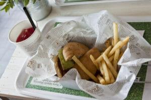 a vegan burger and fries at veganburg. The Best Vegetarian Restaurants In San Francisco