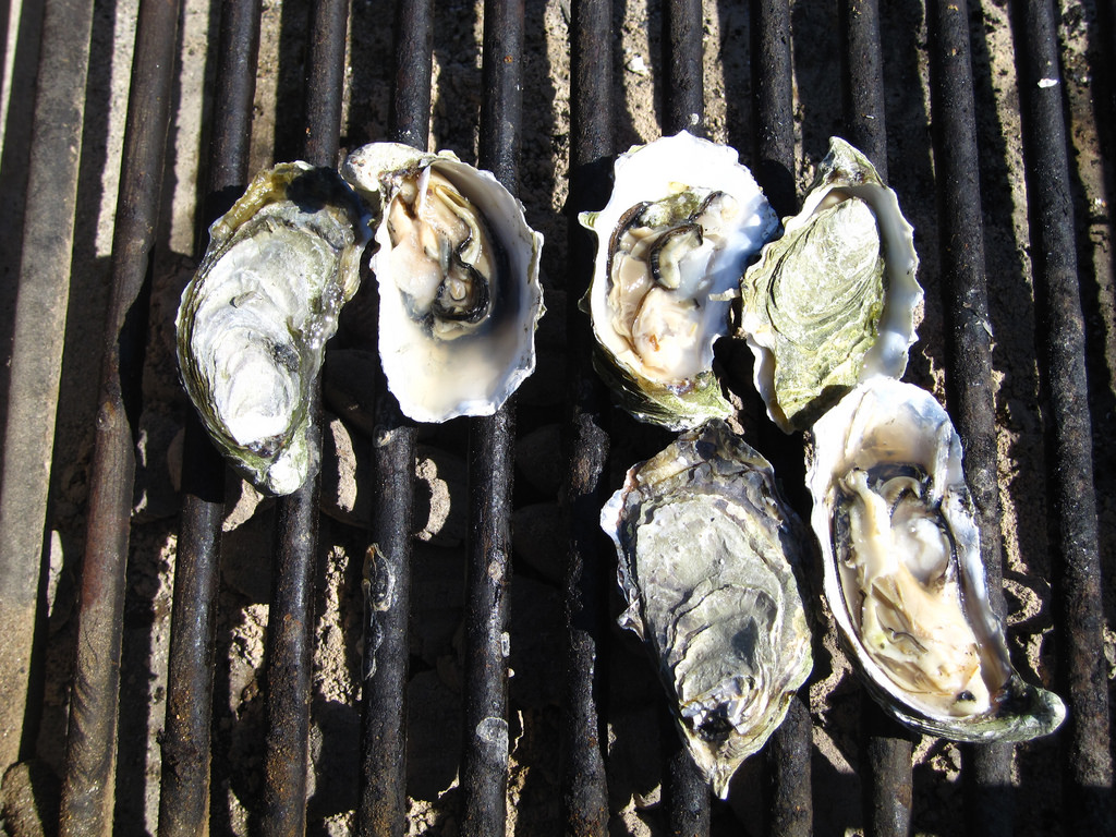 Five Places We Love For San Francisco Seafood: Hog Island oysters on the bbq