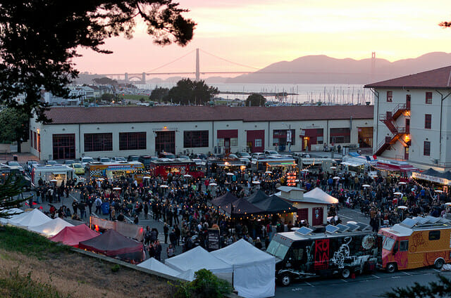 go to the food truck festival Off the Grid: Fun Date Night Ideas For Couples That Love Food