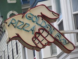 5 Best Pizza Spots in North Beach-golden boy pizza sign