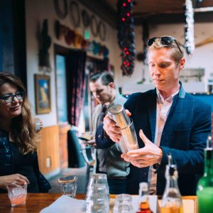 man in mixology class on san francisco private food tours