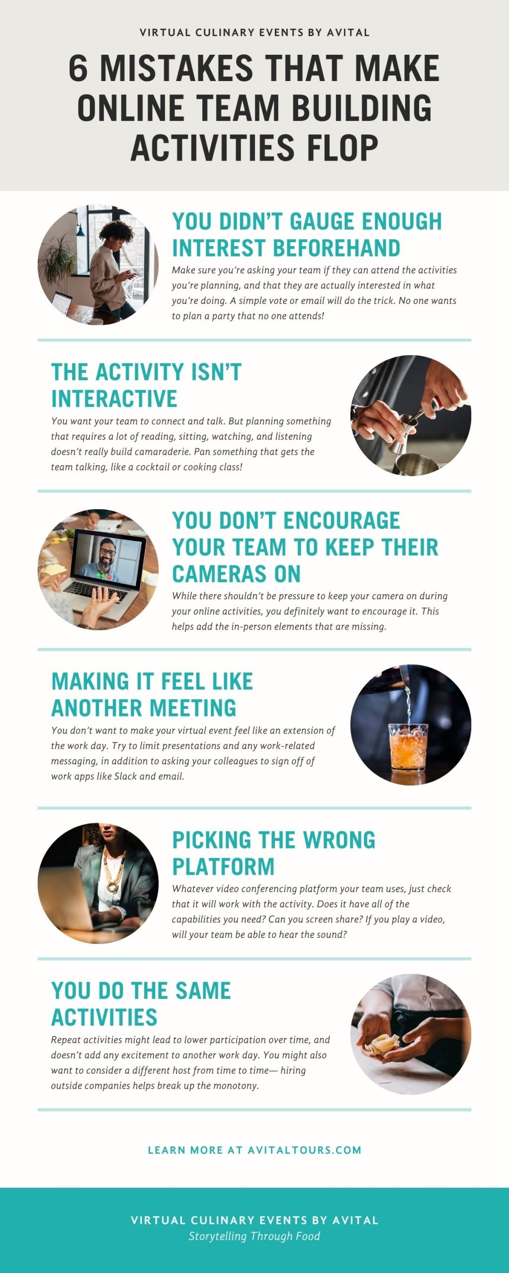 infographic for online team building activities