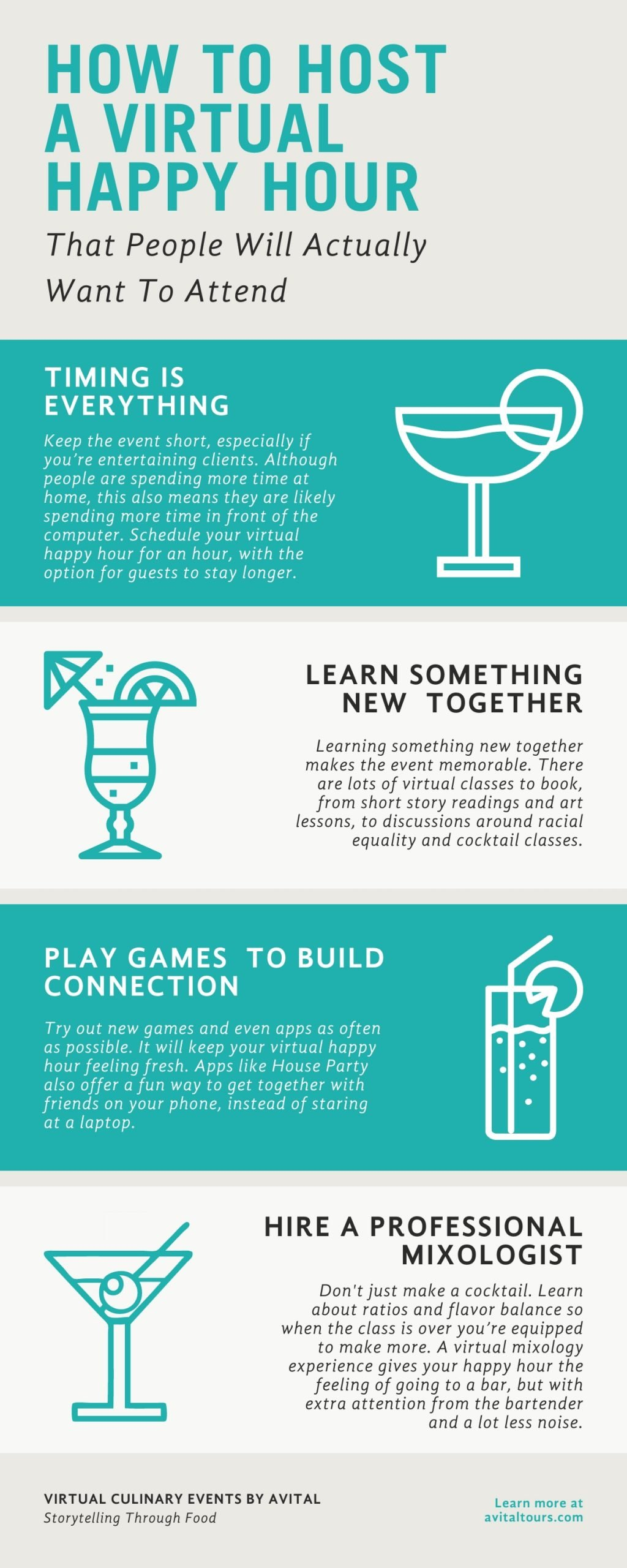 virtual happy hour infographic