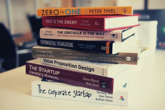 stack of books virtual thank you ideas for clients