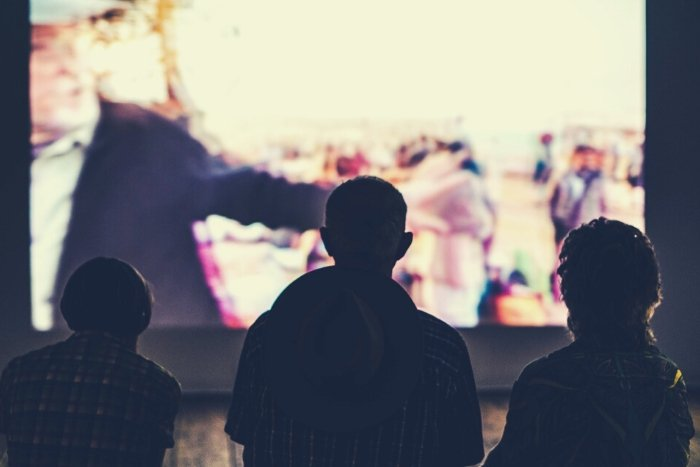 people watching movie virtual thank you ideas for clients