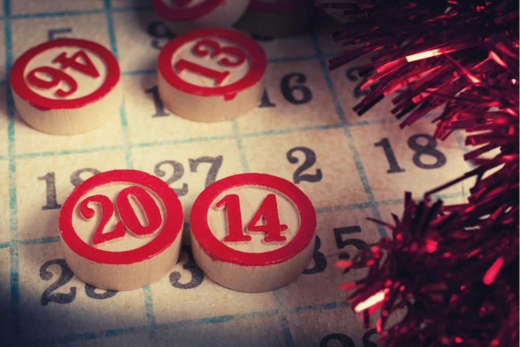 virtual holiday party bingo game