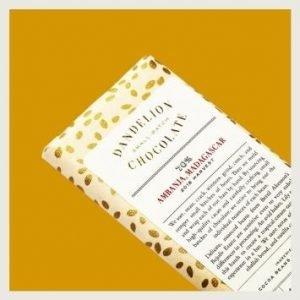 chocolate bar on yellow background