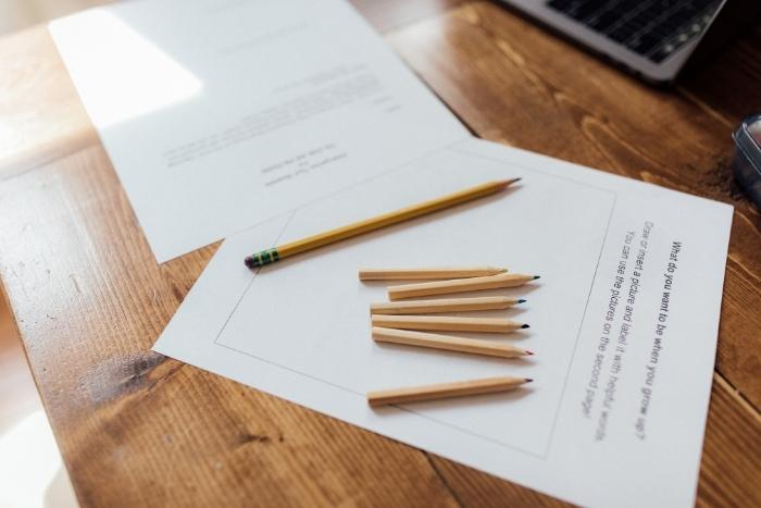 pencils-and-paper-for-virtual-trivia-game-teambuilding-activity