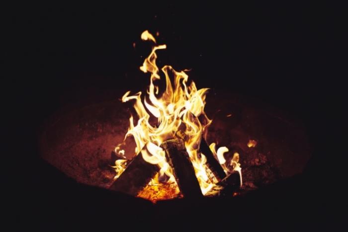 campfire-for-virtual-halloween-party-idea