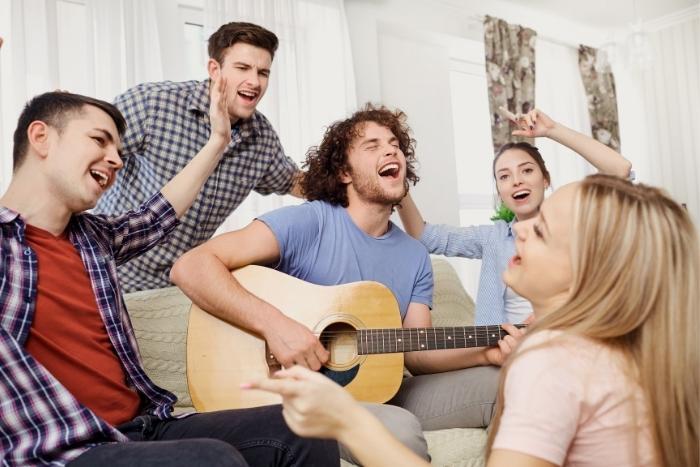 singing-holiday-songs-virtual-party