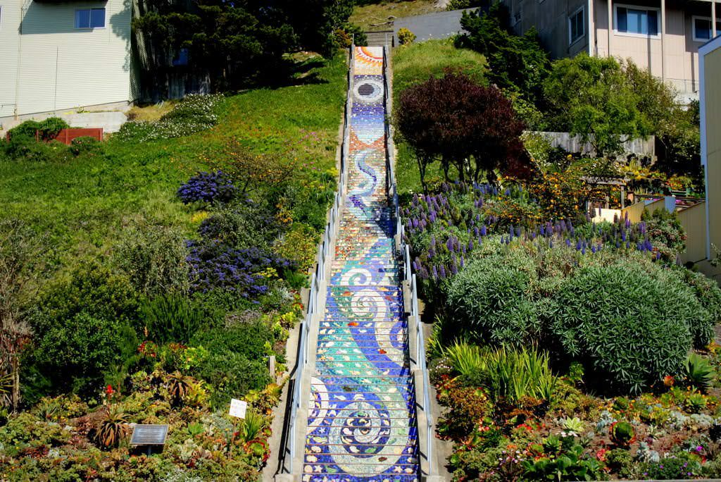 local secret staircase in San Francisco