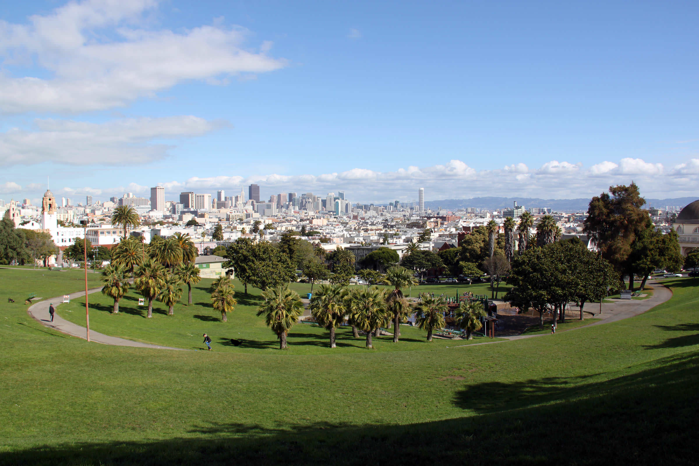 view from Dolores Park in San Francisco
