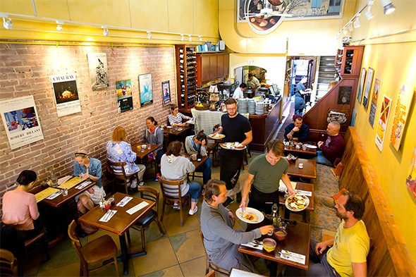 people eating brunch at Zazie Cafe in San Francisco