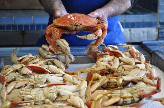 crabs at San Francisco Fisherman's Wharf