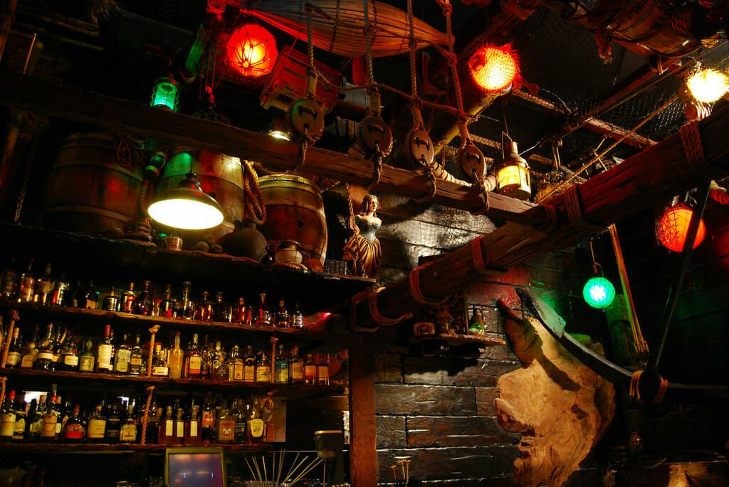 bar at Smuggler's Cove in San Francisco