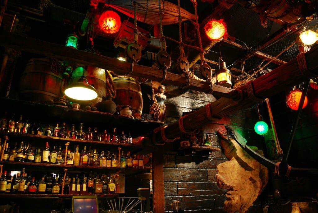 bar at Smuggler's Cove in San Francisco