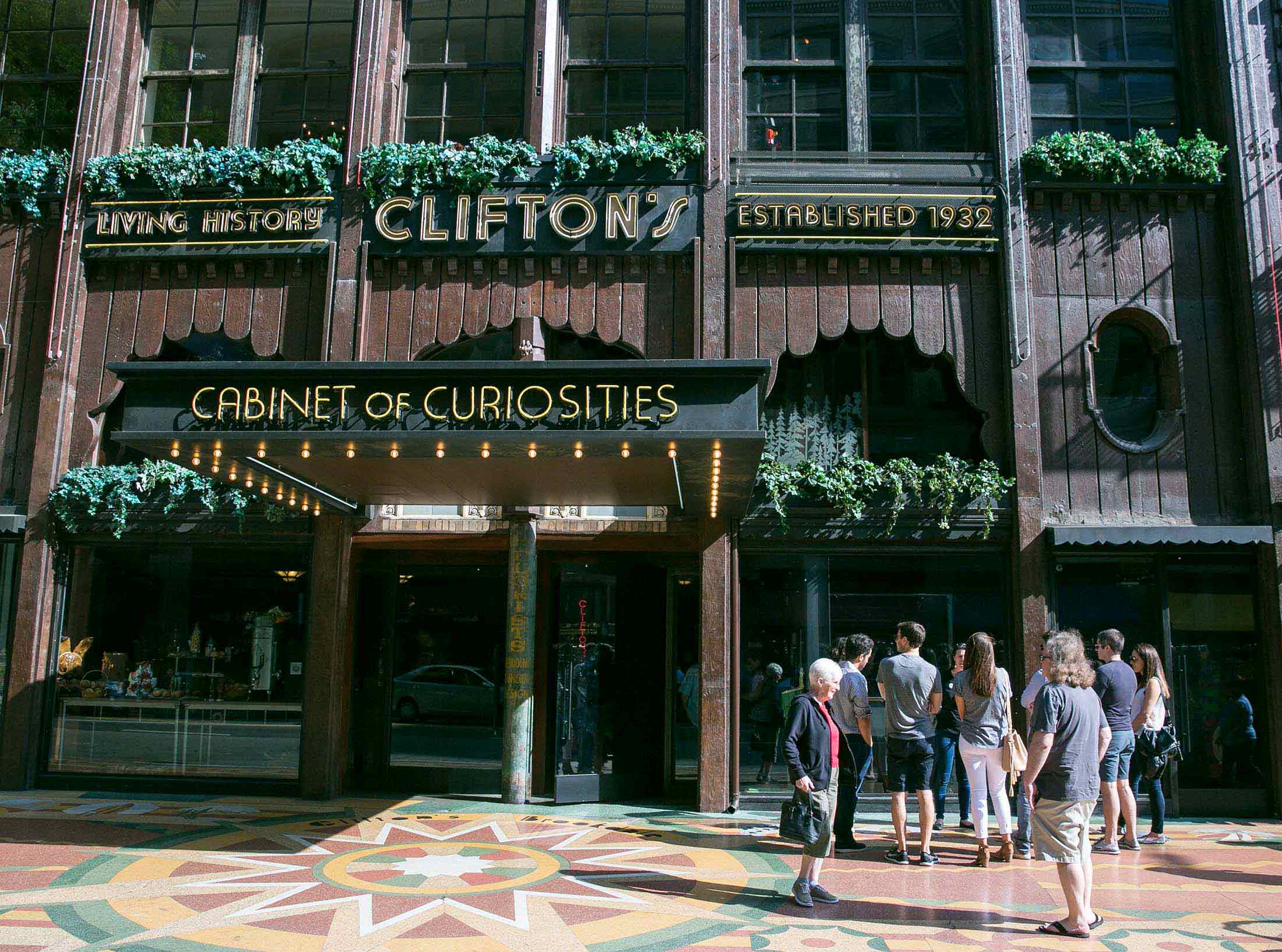 Entrance to Clifton's Cabinet of Curiosities