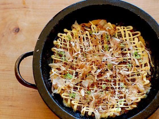 Okonomiyaki dish at Namu Gaji in Mission District San Francisco