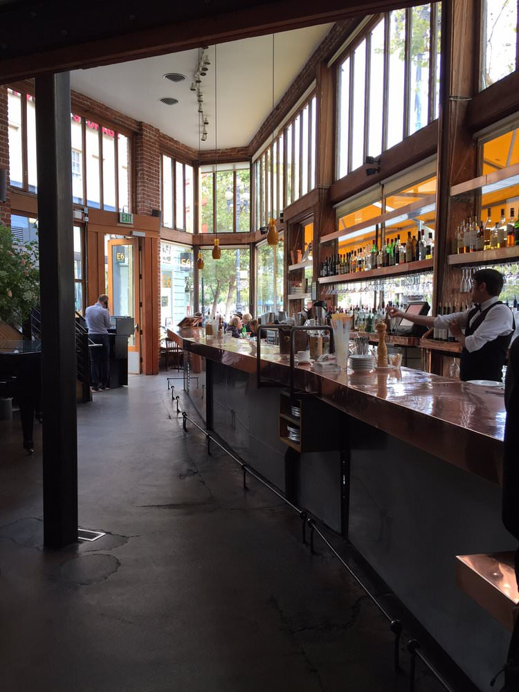bar at Zuni cafe in san francisco