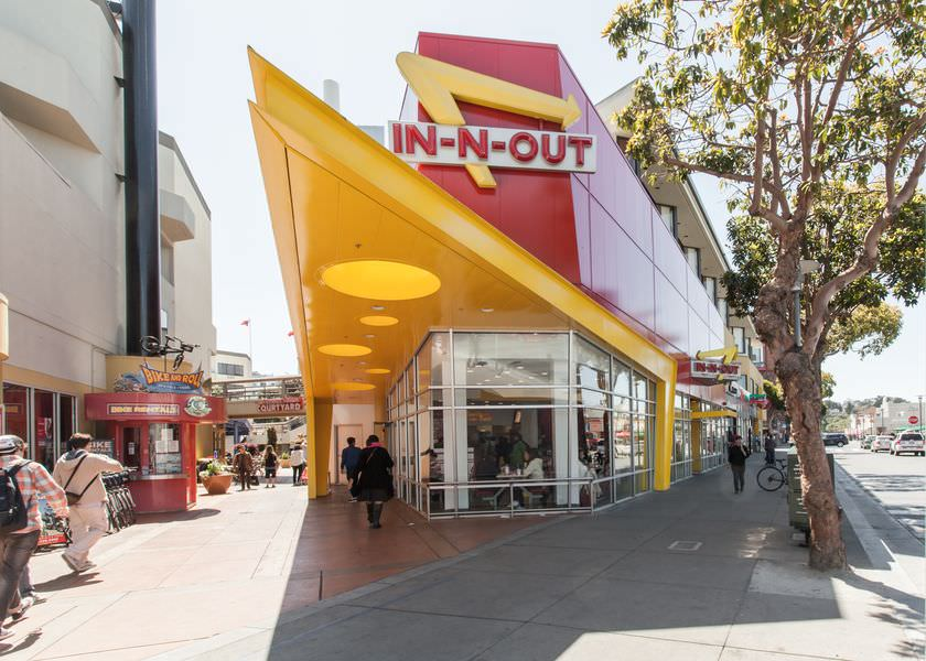 In-N-Out restaurant at Fisherman's wharf