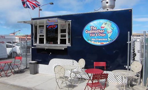 The Codmother Fish and Chips shack at Fisherman's wharf