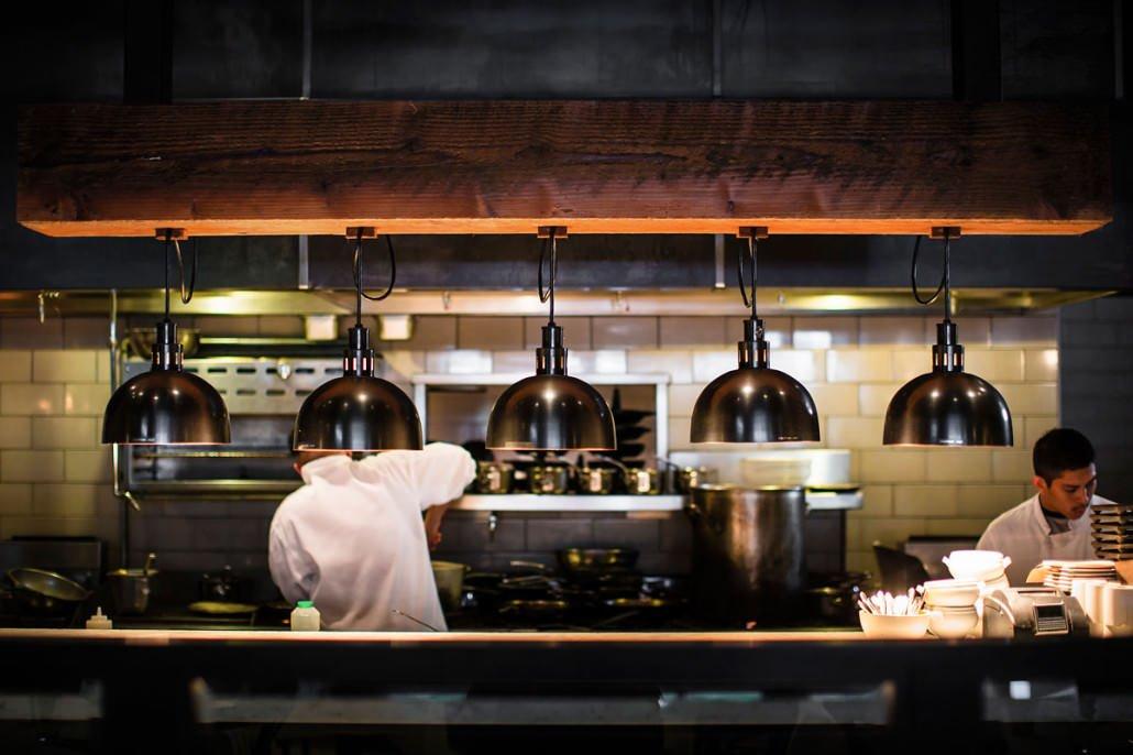 kitchen in Park Tavern restaurant