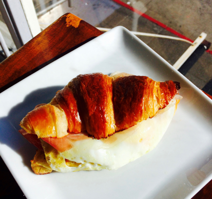 breakfast croissant at Cavalli Cafe