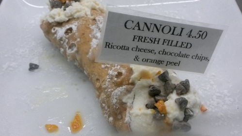 cannoli at Cavalli Cafe in San Francisco